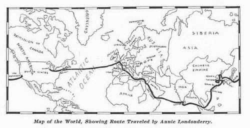 Itinerario Annie Londonderry