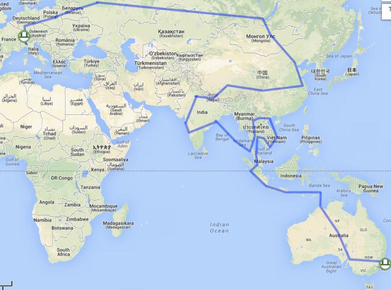claudio pelizzeni giro del mondo senza aerei