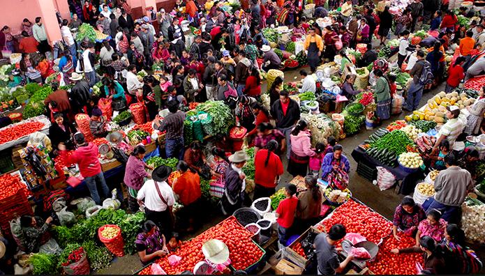 Mercato chichicastenango, guatemala