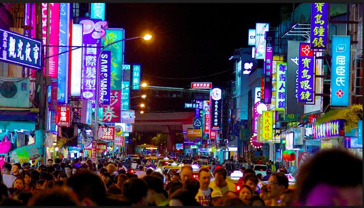 Shilin mercato notturno, taiwan