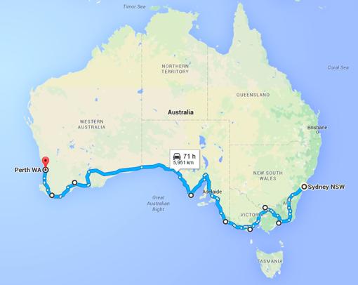 risalente costa centrale NSW